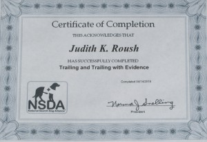 SAR - NSDA Certificate